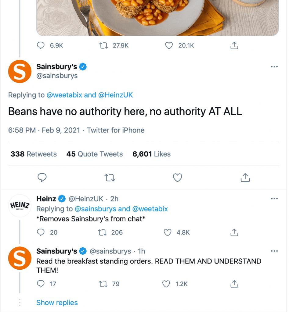Sainsbury's Tweet